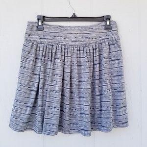 Gap Mini Skirt Size Small Grey and Navy Stripe
